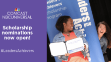 Comcast NBCUniversal Offers Scholarships for Community-Minded High School Seniors