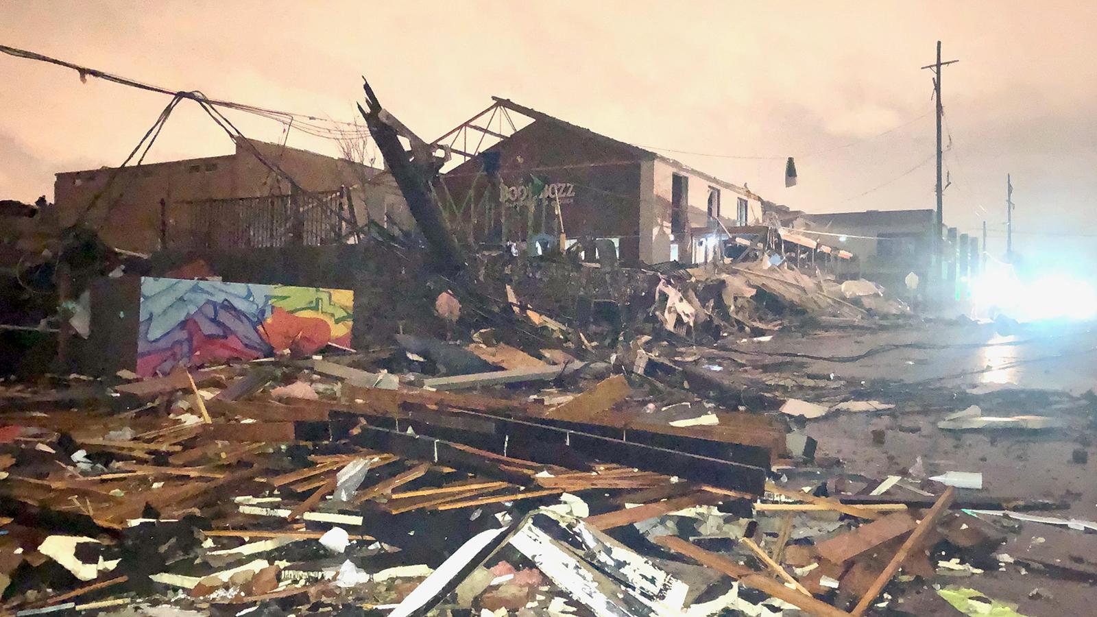 Aftermath of the devastating tornadoes in Nashville, TN.