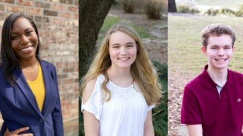 Three students senior pictures.