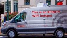 An Xfinity mobile wifi hotspot van