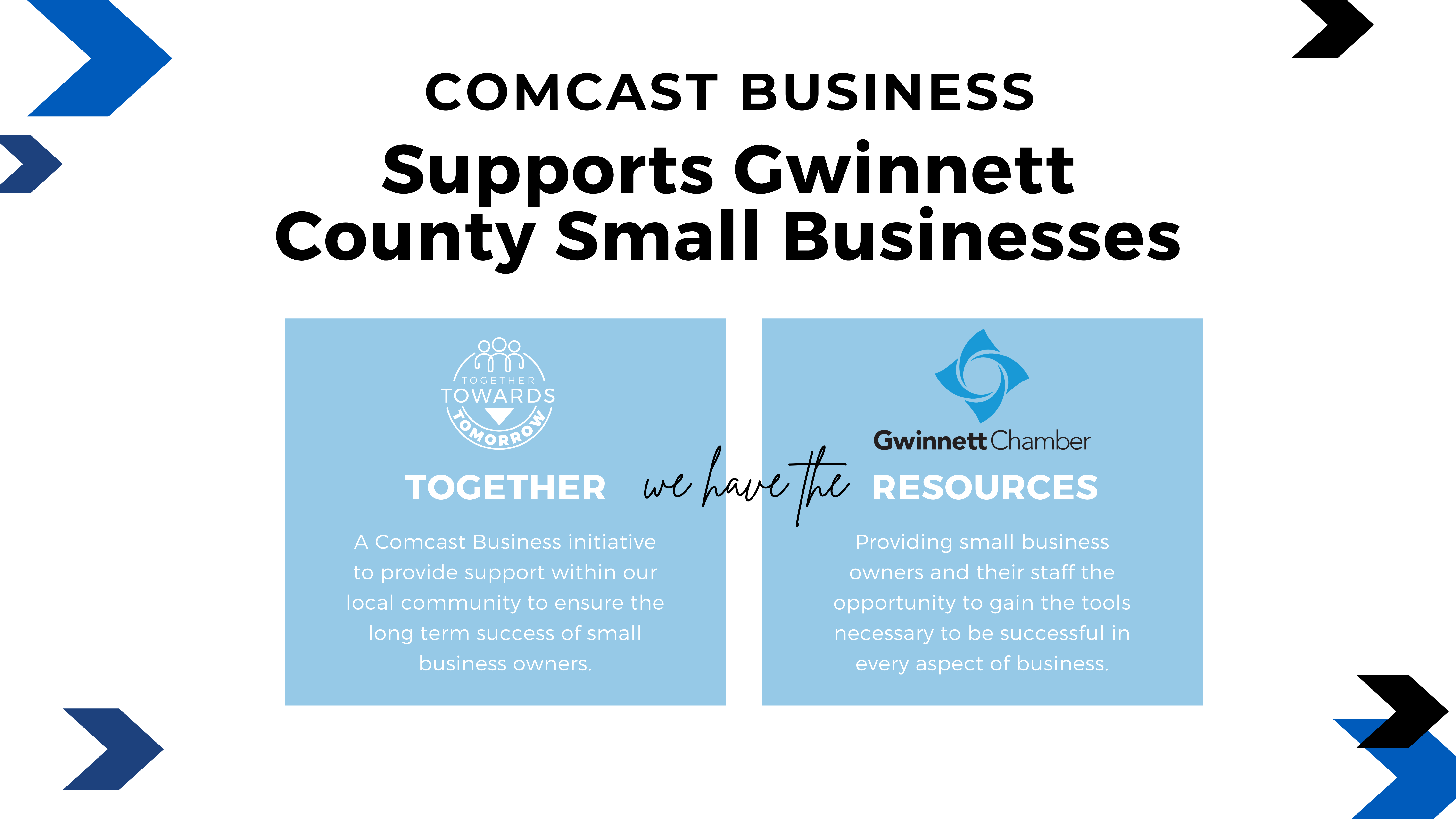 Comcast Business Announces Together Towards Tomorrow Campaign to Support Small Businesses Impacted by Pandemic